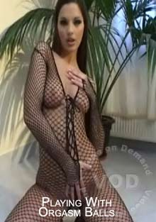 Playing With Orgasm Balls